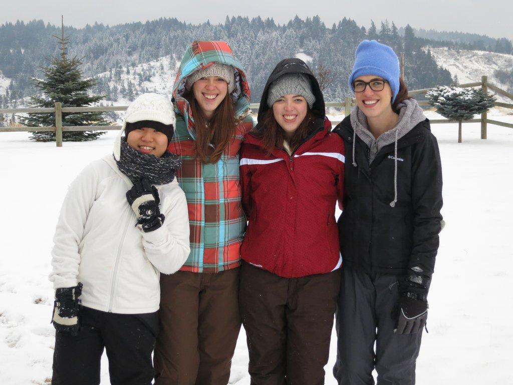 Yuna, Ashley, Melissa, and Heather