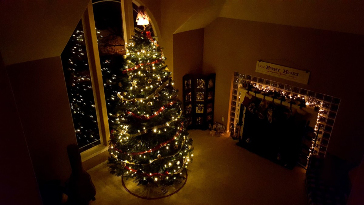 A decorated tree