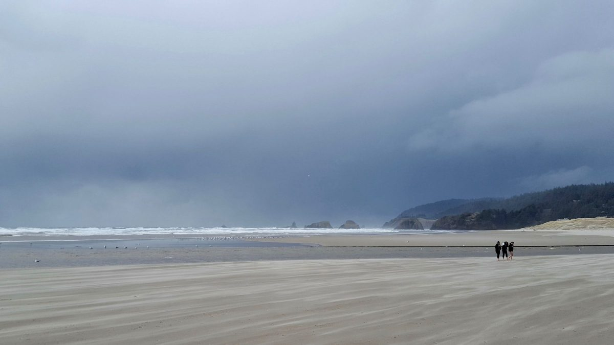 Another crowded day at Cannon Beach