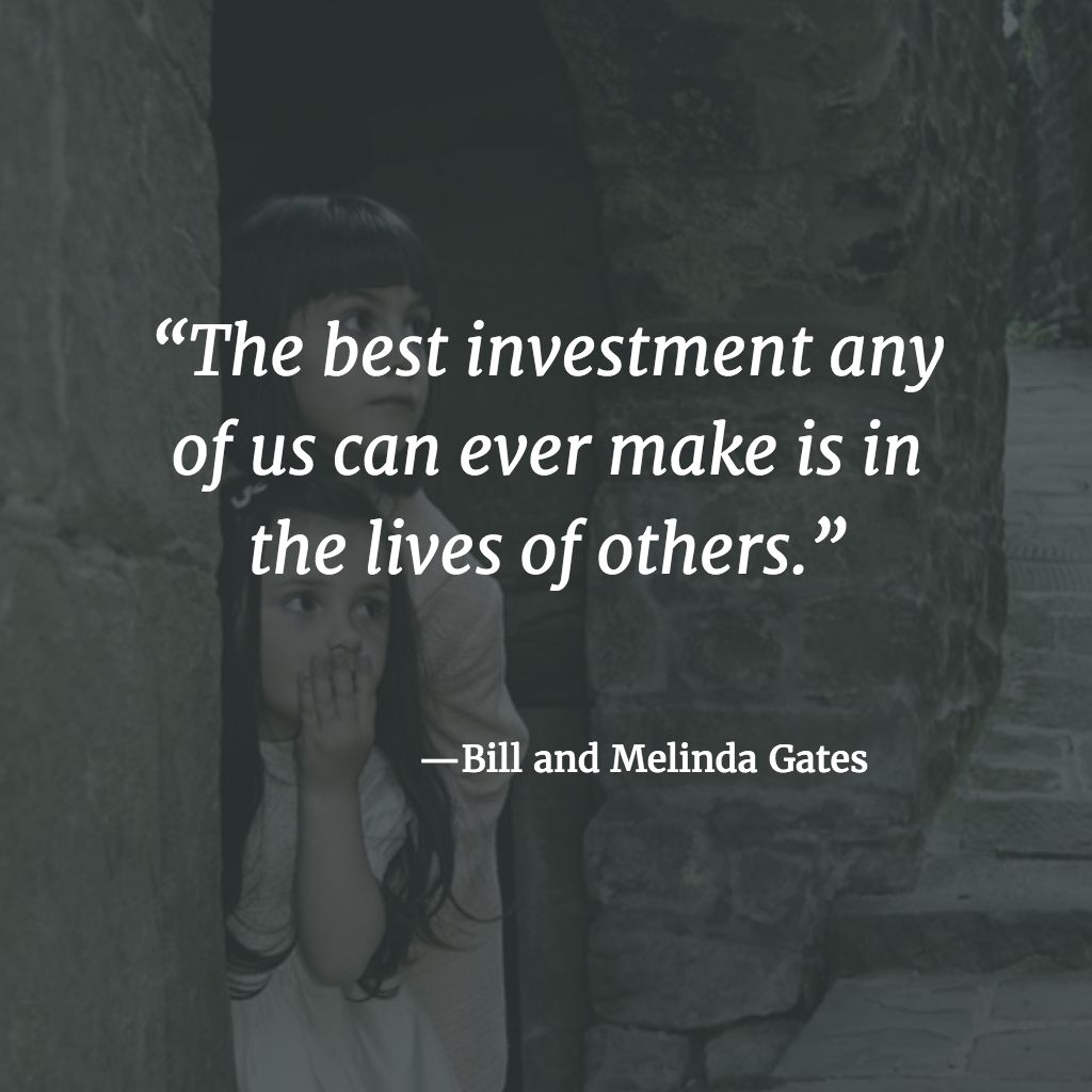 Bill and Melinda Gates on investing
