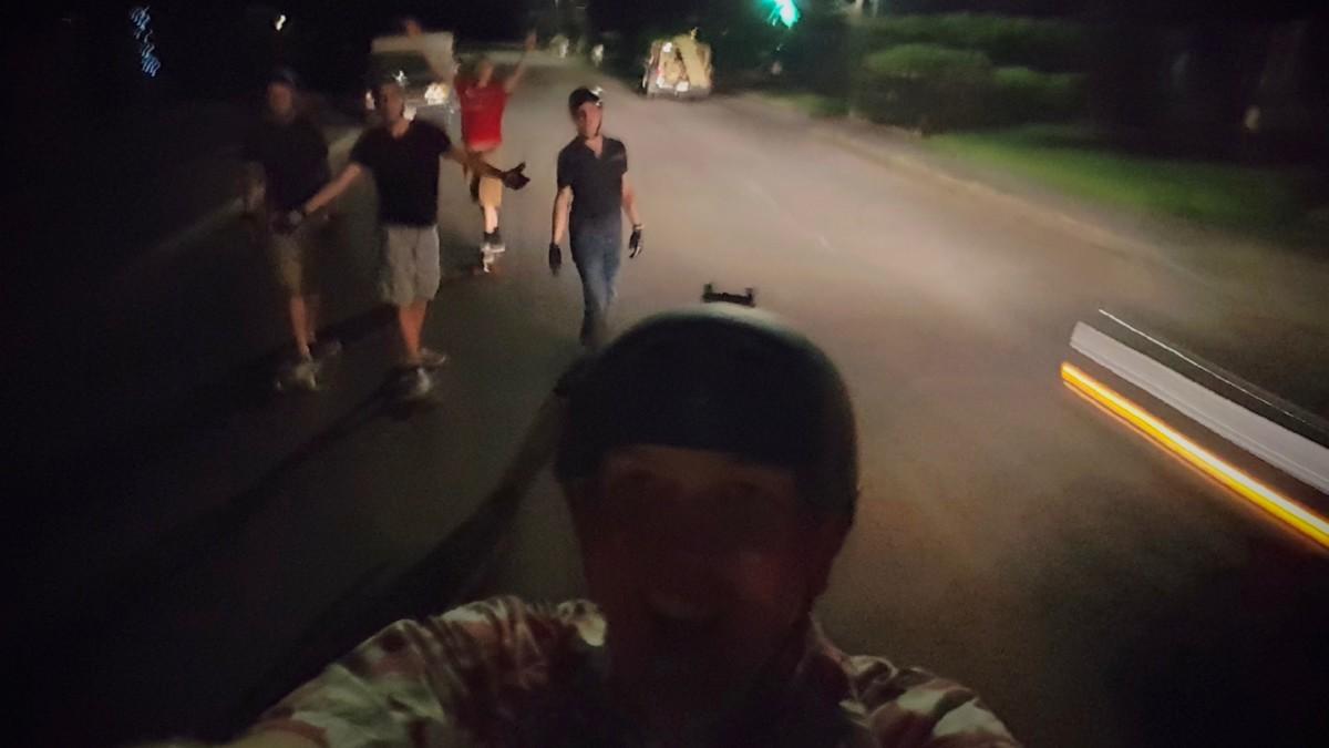 Longboarding at night