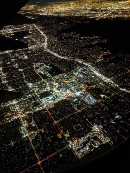 Northern California at night