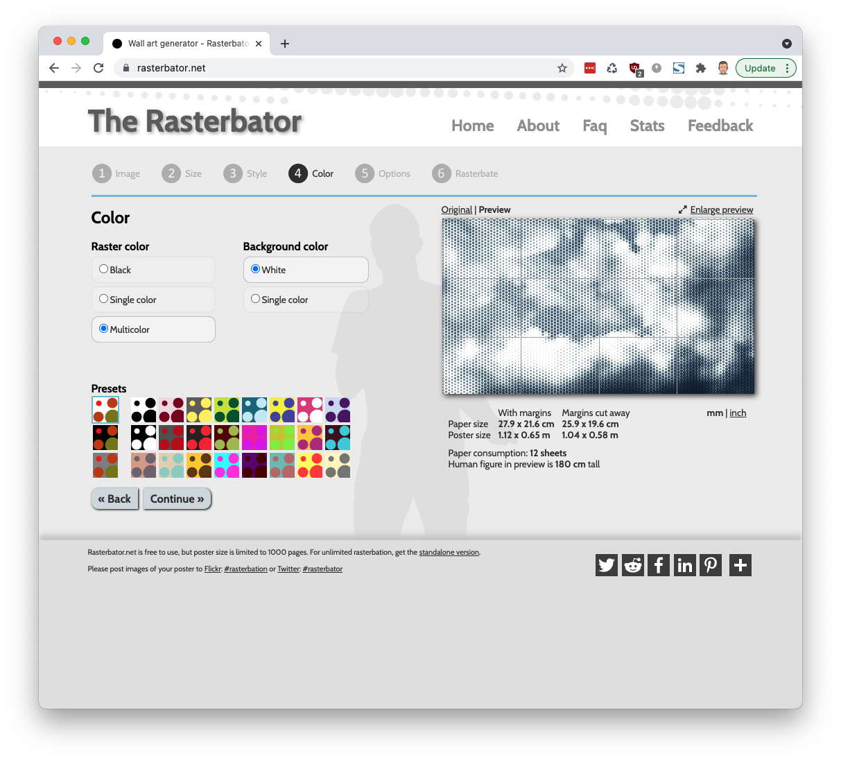 rasterbator website